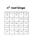 Simplifying nth Roots Bingo