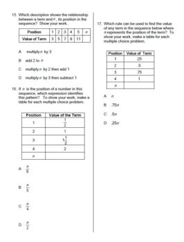 Solving for the nth Term Sequences Nth Term Algebra Practice Worksheet