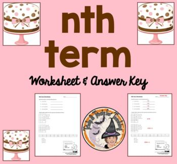 nth term tables patterns sequences algebra variables terms worksheet