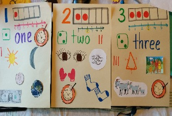 number 1-5 anchor chart