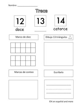 Number Sense - Number 13 (Eng & Span)