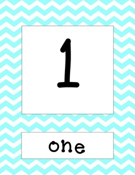 number and number word cards 1-20