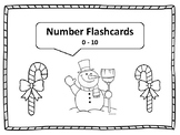 number flashcards 0-10 snowman