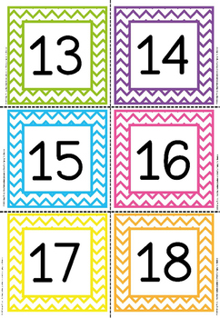 number flashcards 1-200