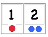 number identification flash cards