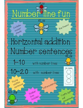 number line addition to 10