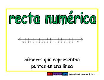 number line/recta numerica prim 2-way blue/verde