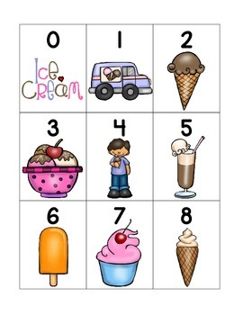 numeral cards 1 to 20: bundle 4