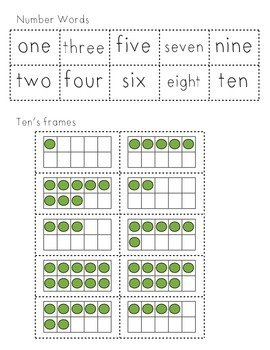 number matches 1-10