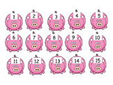 number order to 15 pigs