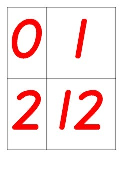 number posters/ ordering activity 0-20