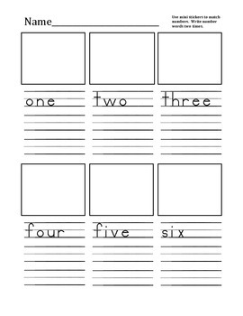 number word practice