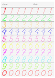number writing practice worksheet