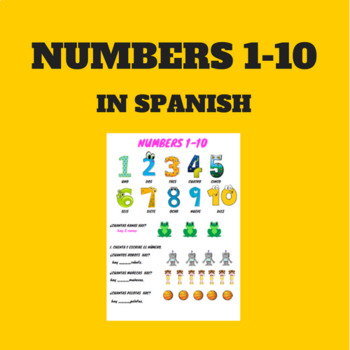 numbers 1-10 in Spanish / números del 1- 10 en español.