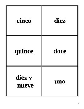 numbers 1-1000 Spanish card game (war, translation)