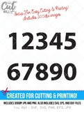numbers svg cut file, numbers dxf, svg, jpg, png, ai cutting files, clip art