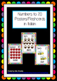 numbers to 20 POSTERS flashcards WORD WALL italian
