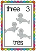 numbers to 20 POSTERS flashcards WORD WALL spanish