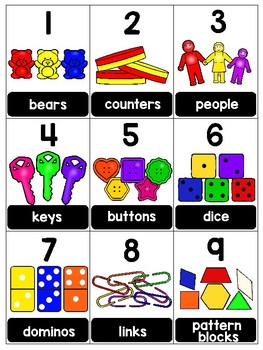 numeral cards 1 to 20: bundle 17