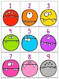numeral cards 1 to 20: set 21