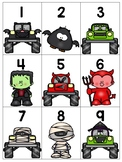 numeral cards 1 to 20: set 11_halloween theme + bonus numeral practice pages