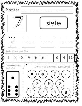 números 1-10 / numbers