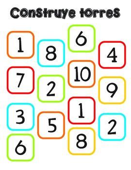 números del 1 al 10 numbers 1-10