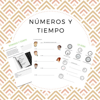 números y tiempo / numbers and time in Spanish.