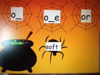 o, o_e, and or word sort flipchart
