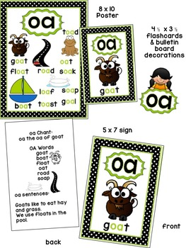 oa Phonogram Book & Poster Pack with Phonics Practice Pages