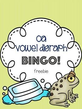 oa Vowel Digraph Bingo Freebie! [5 playing cards]