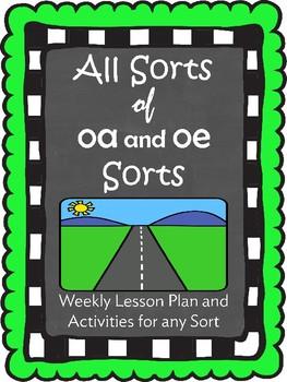 oa and oe Word Sorts