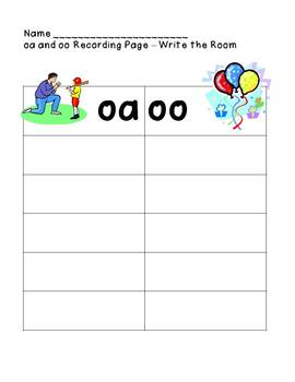 oa and oo spelling packet