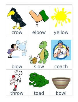 oa and ow Word Sort and Record