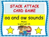 """oa and ow sounds """"Stack Attack"""" card game"""