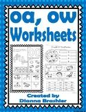 oa, ow Worksheets