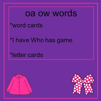oa ow cards, game, letters