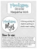 oa / ow manipulative work