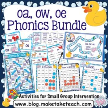 oa ow oe Activities - The Big Phonics Bundle