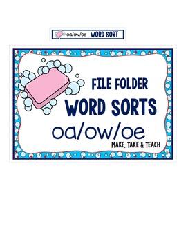 oa ow oe Word Sort- File Folder Word Sorts