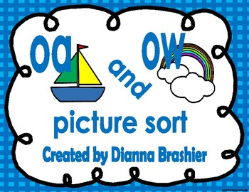oa, ow picture sort