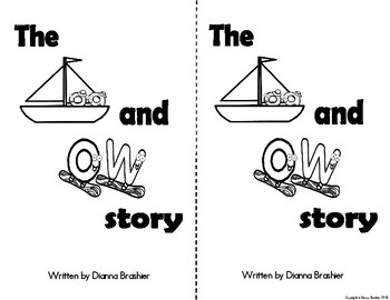 oa, ow story, printable story, wall signs, and worksheets