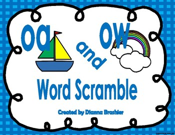 oa ow word sort and word scramble