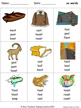 oa phonics lesson plans, worksheets and other teaching resources
