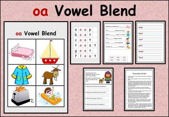 oa vowel blend work packet