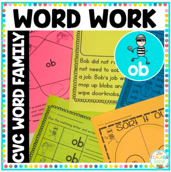 'ob' Word Family Word Work