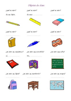 objetos de clase / classroom objects