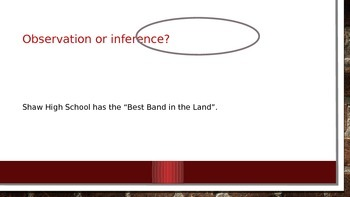 observation vs inference ppt school themed spirit notes game