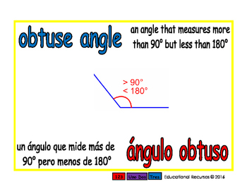 obtuse angle/angulo obtuso geom 1-way blue/rojo