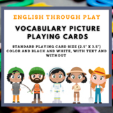 occupations vocabulary cards / playing cards for ESL classes